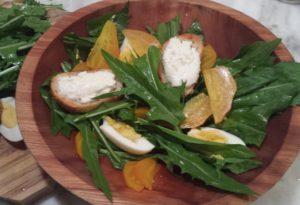dandelion beet salad