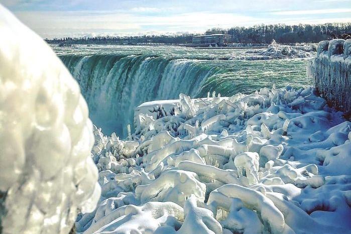 For A Winter Weekend Getaway Head To Niagara Falls Frozen