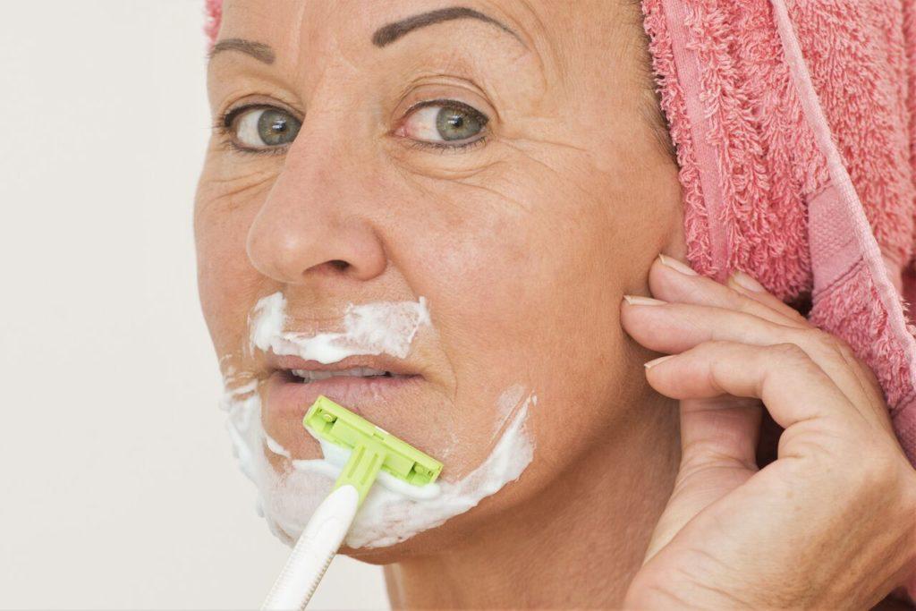 Shaving fuzz grow facial