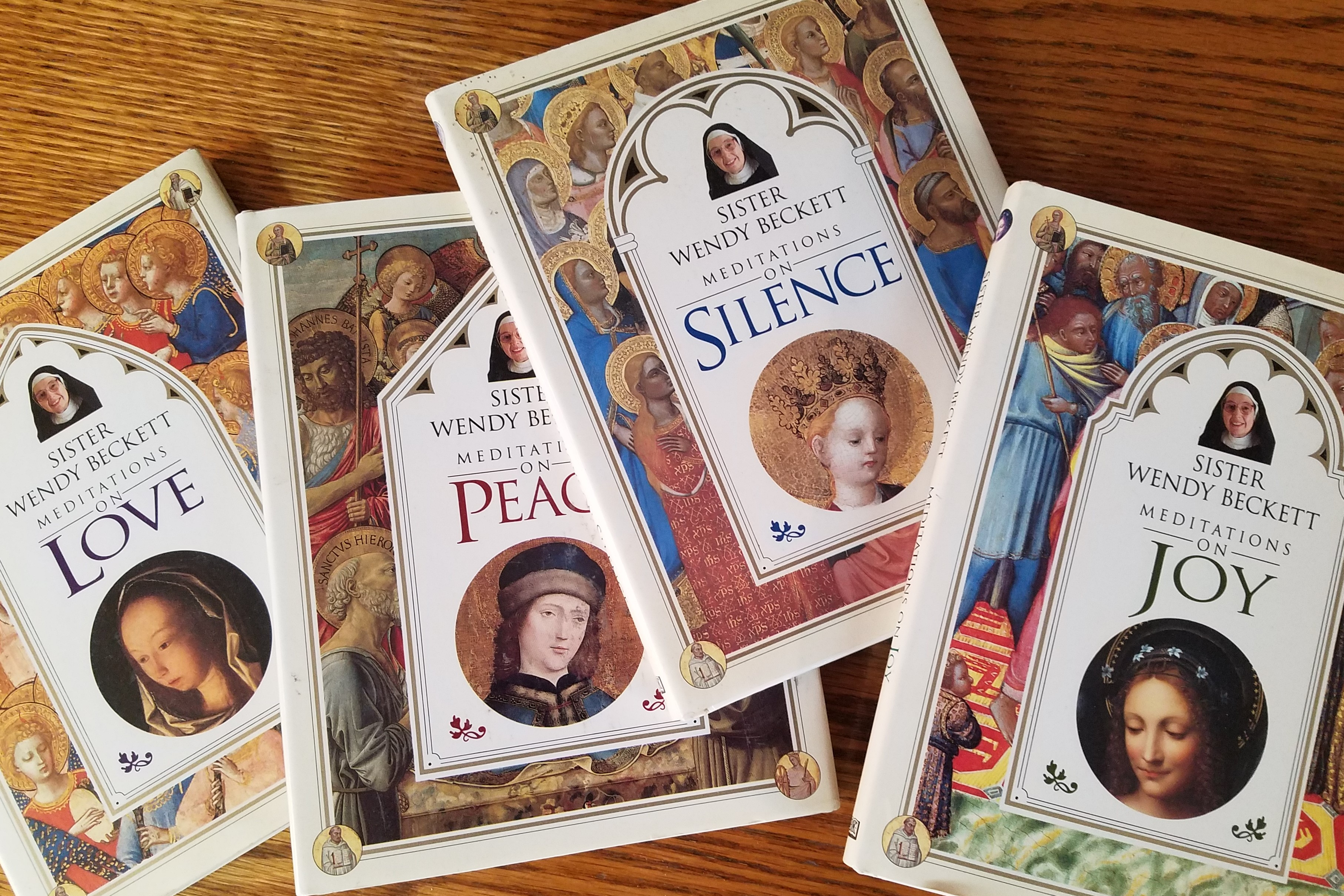 Four of Sister Wendy's books on meditating on art